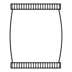 Plastic jar icon, outline style