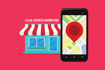 local search marketing ecommerce Wall mural