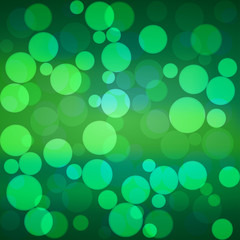 Vector green bokeh background