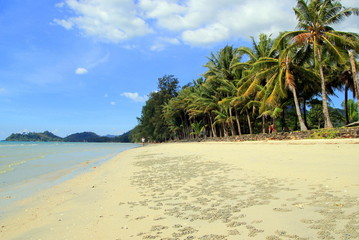 Island Koh Chang, Thailand. The view on the Khlong Phrao Beach.