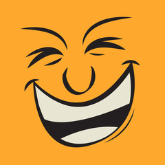 Cartoon funny face expression