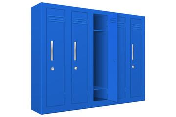 Blue school lockers