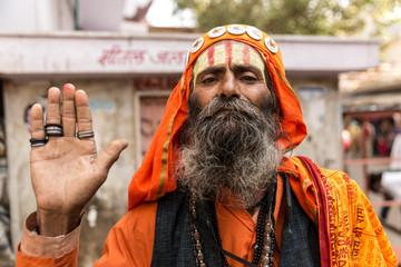Hindu sadhu holy man in Pushkar, India