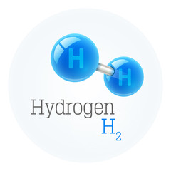 Chemistry model of hydrogen molecule scientific elements