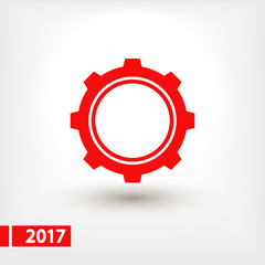 gear icon, vector illustration. Flat design style
