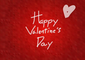 An illustration vector of word Happy Valentine's Day in cute kid style font on red background