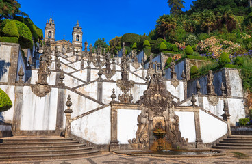 Acrylic Prints Monument Stairs of Church Bom Jesus do Monte