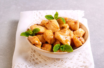 Lemon and mint chicken breast
