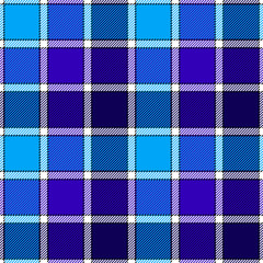 Blue ice check plaid seamless pattern