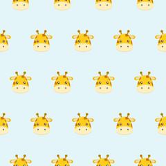 Baby pattern of cute little giraffe.