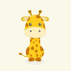 Cute giraffe cartoon.