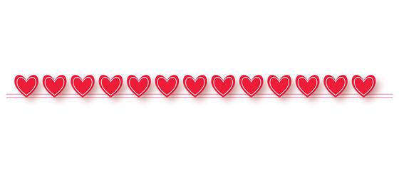 Valentine's Day Heart Border Graphic Element