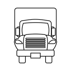truck delivery vehicle icon vector illustration design