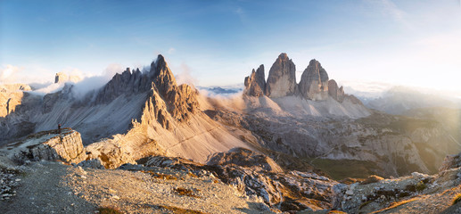 Monte Paterno / Paternkofel and the Tre Cime di Lavaredo / Drei Zinnen, Dolomites, Italy