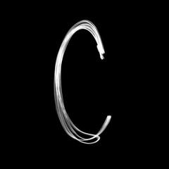 Alphabet written with lamp. Letter C