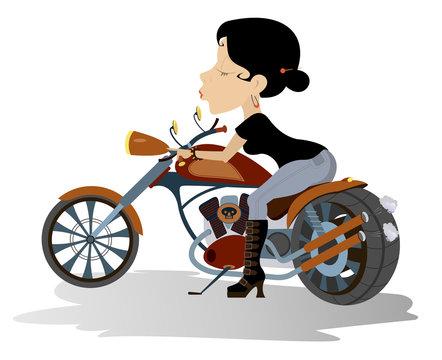 Biker babe Biker, motorcycle, boot, women, seductive women