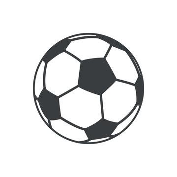 football soccer ball sport element icon vector illustration eps 10