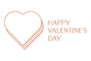 Happy Valentine's Day greeting card, vector illustration