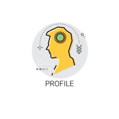 Profile Icon Male Sketch Avatar Vector Illustration