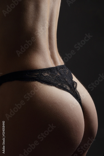 "Femme Nue String fesses de femme en string noir"" stock photo and royalty-free images"