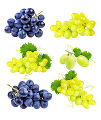 Leinwandbilder -     grapes isolated on the white