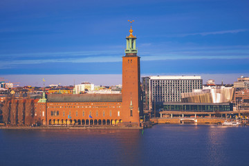 Stockholm City Hall in sunlight