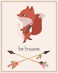 Be brave children's poster