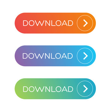 Download button set flat design