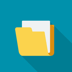 Vector folder flat icon