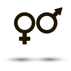 Female and male sign icon vector
