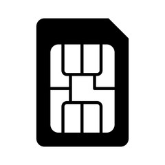 SIM card or subscriber identity / identification module chip flat vector icon for apps and websites