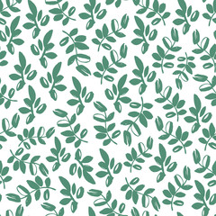 Seamless pattern with hand drawn branches. Eco background.