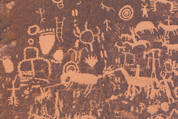 Native American petroglyphs in the Desert South West