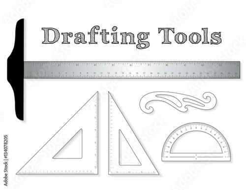 Drafting Tools For Architecture And Engineering Aluminum T Square With Inch Centimeter Measure