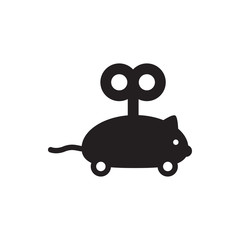 mouse toy icon illustration