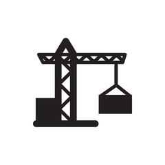 construction crane icon illustration