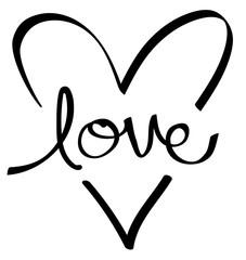 Black Love Heart