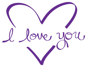 Purple I Love You Heart