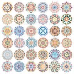 Vector Mandalas Design Elements Set
