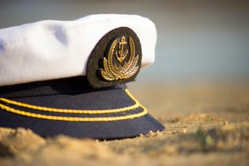 capitan cap on the beach