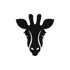 giraffe icon illustration