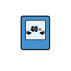 Traffic Signs Icon Illustration Isolated Vector Sign Symbol