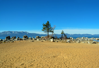 Wonderful landscape of South Lake Tahoe, California