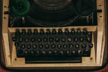 typewriter, buttons, keyboard
