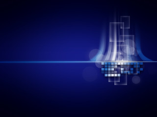 Abstract lights and technology background