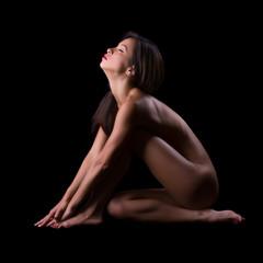 Sensual implied nude woman