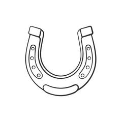 Doodle of horseshoe