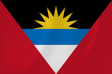 Antigua and Barbuda waving flag