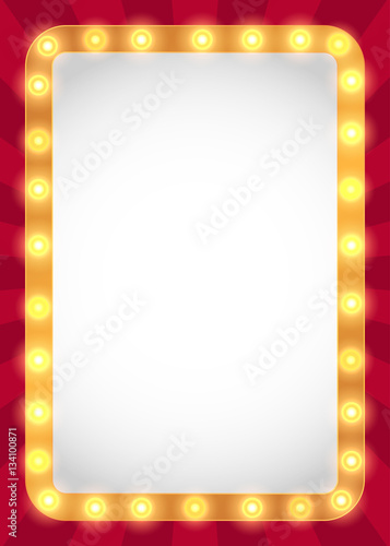 """Light bulbs marquee frame background"" Stock image and ..."