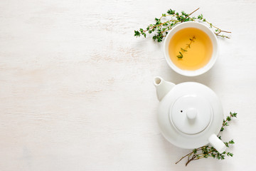 Thyme tea, top view